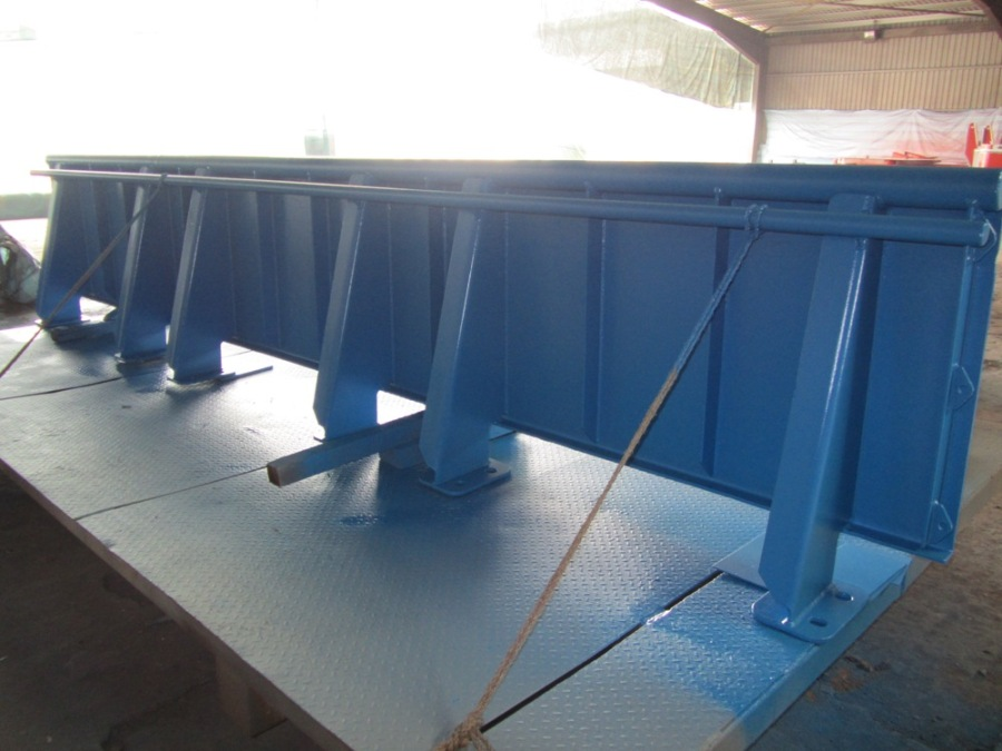 The blue railing onboard Investigator