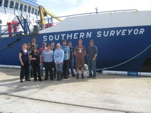 The team heading to the Indian Ocean on Southern Surveyor