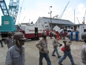 Fire drill at the shipyard