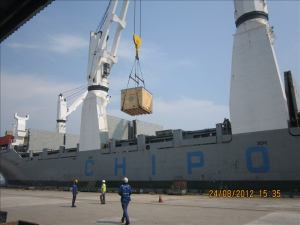 Mystery box arriving at the shipyard