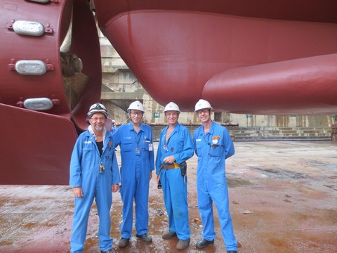 Some of the CSIRO Site Team in Singapore (l to r) Trevor Grant, Graham Stacey, David Humphries and Steve Thomas.