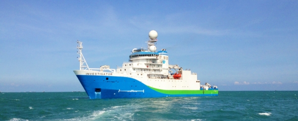 RV Investigator on scientific sea trials