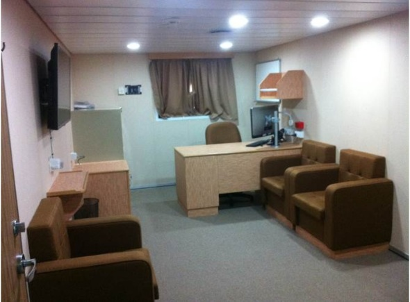 The Master's quarters onboard RV Investigator