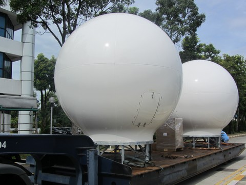RV Investigator's communications domes
