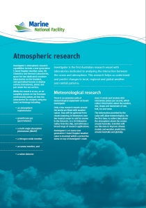 RV Investigator's atmospheric research fact sheet