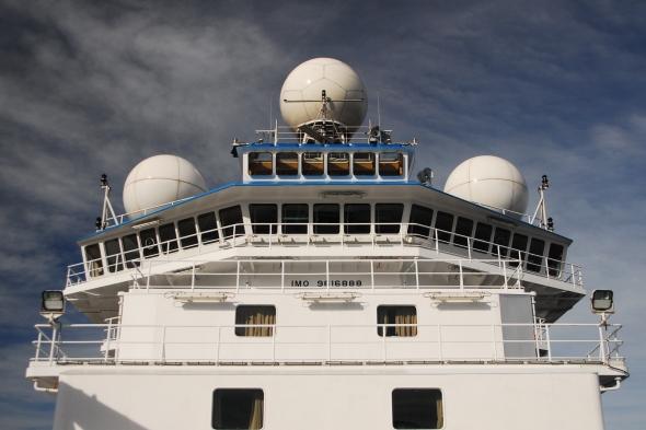 RV Investigator's weather radar