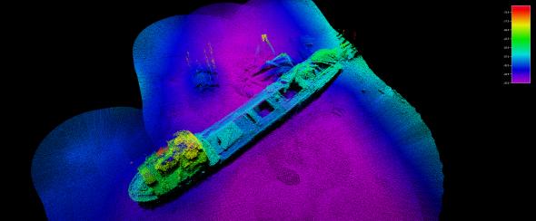 CSIRO Geophysical Survey and Mapping - Lake Illawarra shipwreck 2